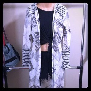 Long hooded tribal cardigan from Maurices